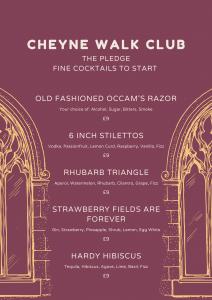 Cheyne Walk Club Cocktails
